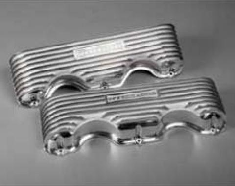 El Camino Valve Covers, Finned, Polished Aluminum, 348/409ci, Offenhauser, 1959-1960