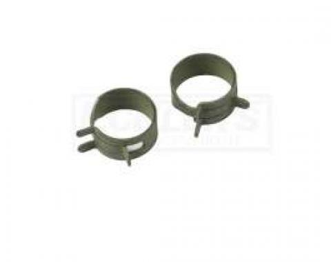 El Camino PCV System Related Bolts PCV Hose Clamps, 2 Pieces, 1971-1972