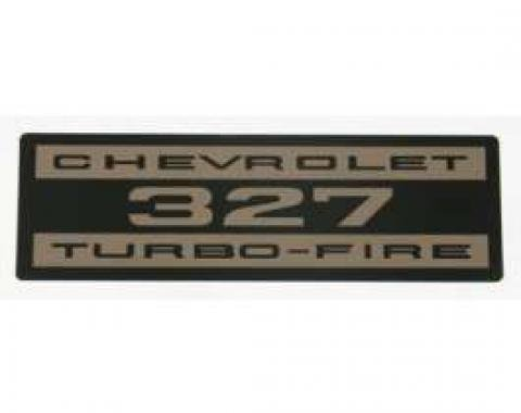 El Camino Valve Cover Decal, 327 Turbo-Fire, 1964-1968
