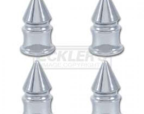El Camino Valve Stem Caps, Chrome Spike, 1959-1987