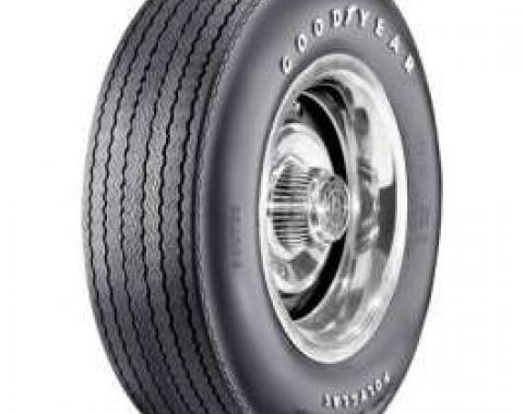 El Camino Tire, F70/14 Raised White Letter, Goodyear Custom Wide Tread 2/2 Polyglas Bias Ply, 1969