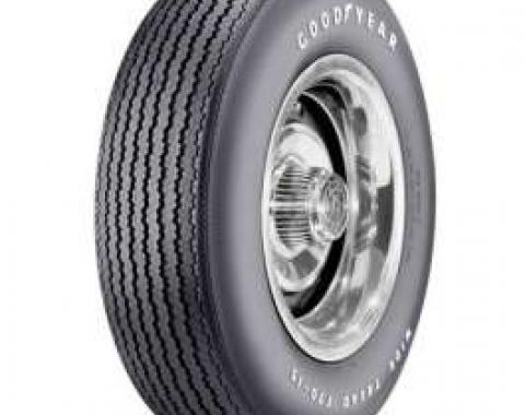 El Camino Tire, F70/14 With Raised White Letters, Goodyear Speedway Wide Tread Bias Ply, 1967-1968