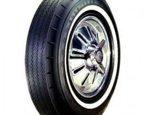 El Camino Tire, 7.50/14 With 1 Wide Whitewall, Goodyear Custom Super Cushion Bias Ply, 1964