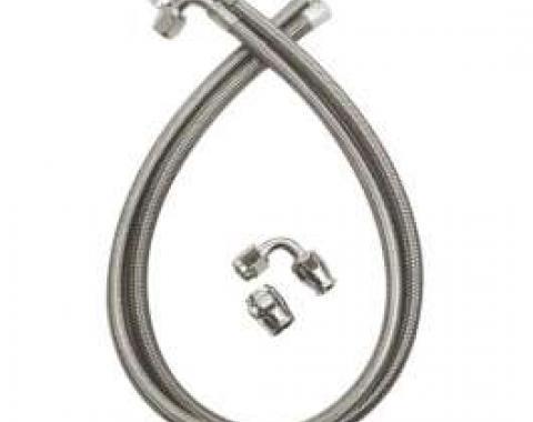 El Camino Braided Power Steering Hoses, For Type II Power Steering Pumps, 1982-1987