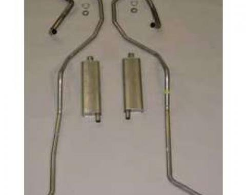 El Camino Exhaust System, Complete - 8 Cyl 348 Hi Perf With 2.5 Dual Exhaust Aluminum, 1959