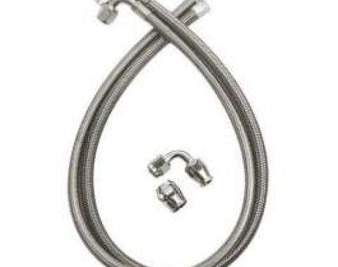 El Camino Braided Power Steering Hoses, For Type II Power Steering Pumps, 1965-1981