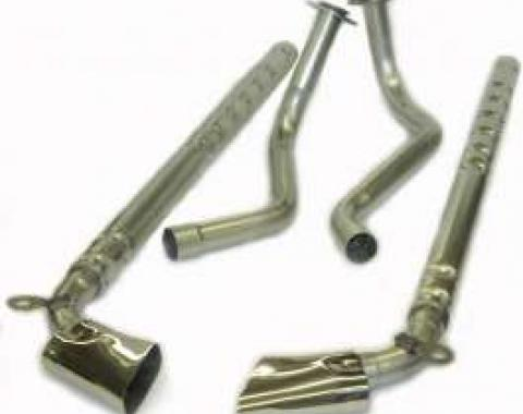 El Camino Side Pipe Exhaust System, Aluminized Steel, Small Block, Complete, 1978-1987