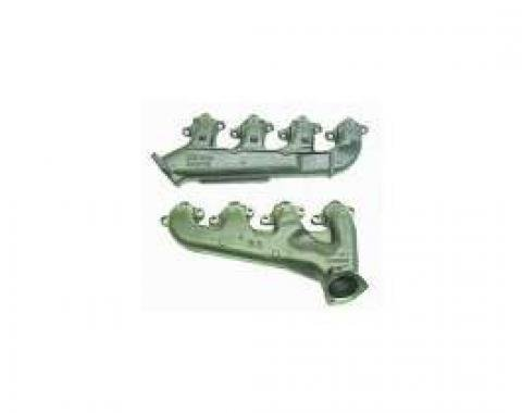 Chevelle Exhaust Manifolds, Big Block, With Smog Fittings, 1967-1970