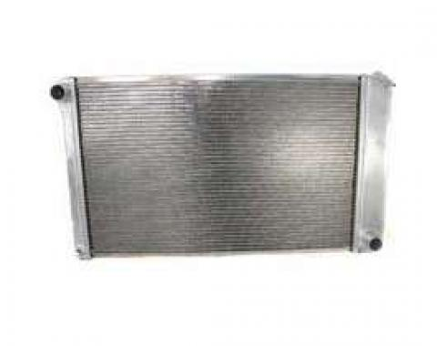 El Camino Griffin Aluminum Radiator, 2 Row With Large Tubes, Natural Finish, With Manual Transmission, 1978-1987