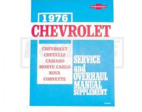 El Camino Service Shop Manuals 76 Supplement For 76