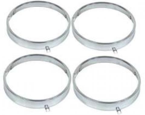 Headlamp Retaining Rings, Set of 4, 1961-1982