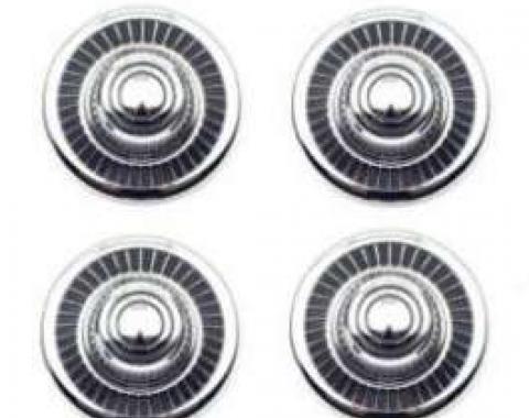 El Camino Rally Wheel Dish And Caps, Metal, 1968-1977