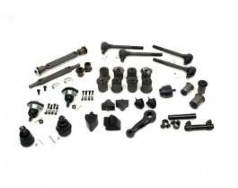 El Camino Suspension Kit, Front & Rear, With Round Lower Front A-Arm Bushings, 1971-1972