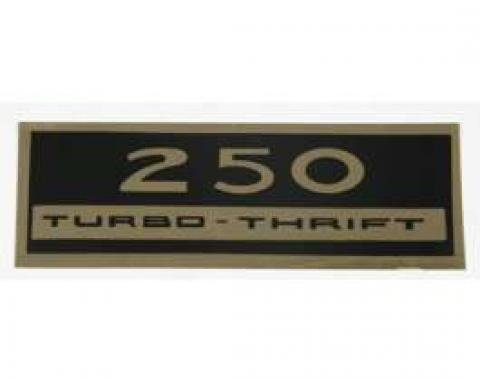 El Camino Valve Cover Decal, 250 Turbo-Thrift, 1972