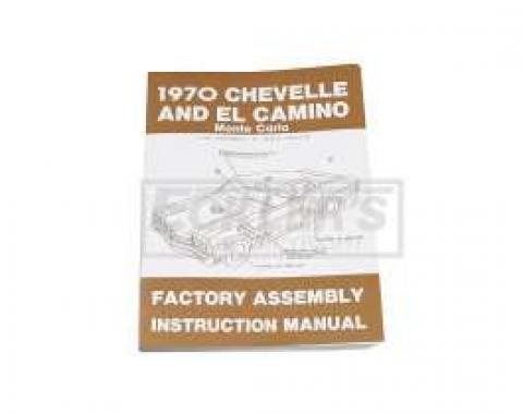 El Camino Factory Assembly Manual, 1970