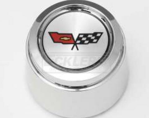El Camino 1982 Corvette Style Chrome Center Wheel Cap, For Corvette Style Aluminum Wheels
