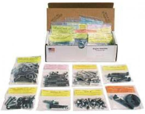 El Camino Small Block Engine Bolt Kit 283,327,350, Without Air Conditioning, 1966-1968