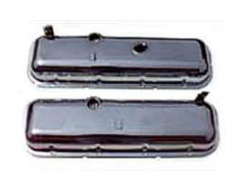 El Camino Valve Cover, Big Block With Drippers, Chrome, 1965-1975