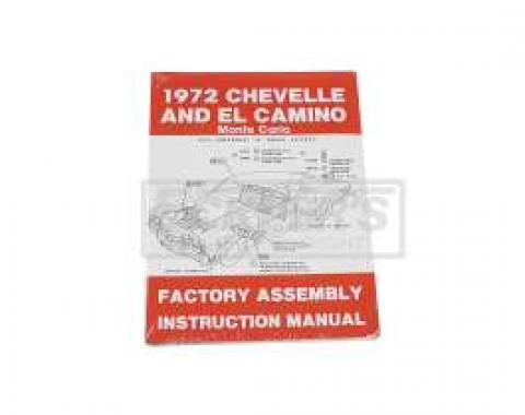 El Camino Factory Assembly Manual, 1972
