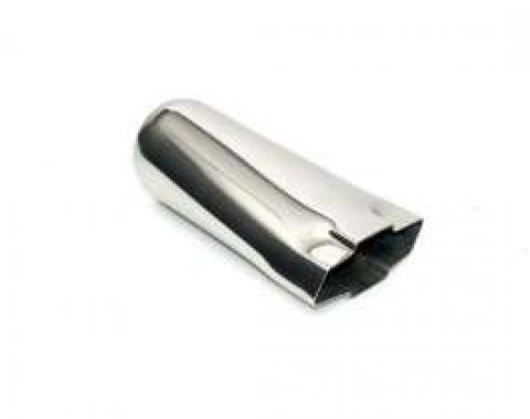 El Camino Bow Tie Exhaust Tip, Stainless Steel, 3-1/2 X 9, 3 Inlet, 1959-1987