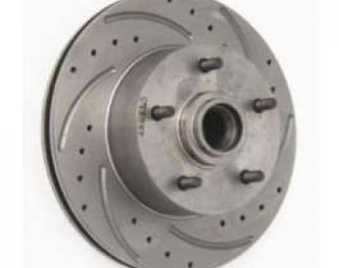 El Camino Front Disc Brake Rotor, Drilled, Slotted & Vented, Right, 1959-1972