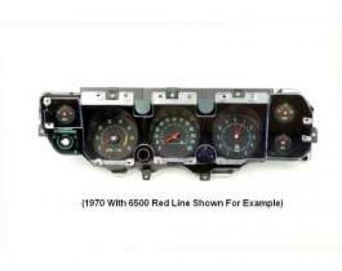 El Camino Instrument Cluster Assembly, With 5000 RPM Redline Tachometer, Super Sport (SS), 1971-1972