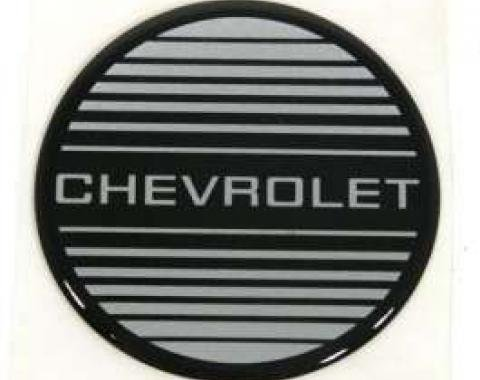 El Camino Wheel Cap Emblem, Silver & Black, Chevrolet, 1983-1985
