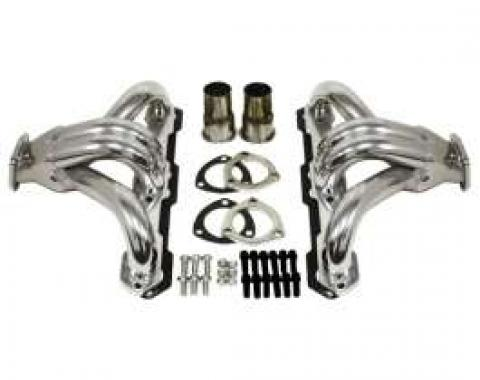 El Camino Exhaust Headers, Small Block, Shorty Style, Ceramic Coated, 1967-1987