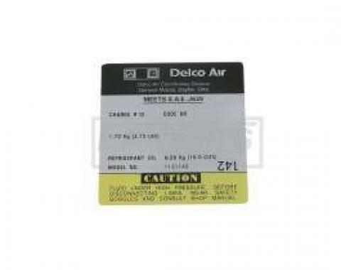 El Camino Air Conditioning Compressor Decal, Delco Compressor #1131142, 1979-1980