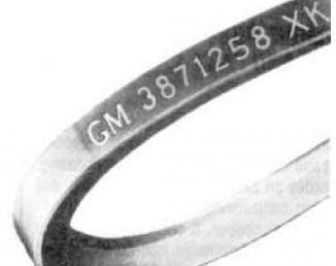 El Camino Alternator Belt, 396ci, For Cars With 63 Amp Alternator & Without A.I.R. Pump, 1969