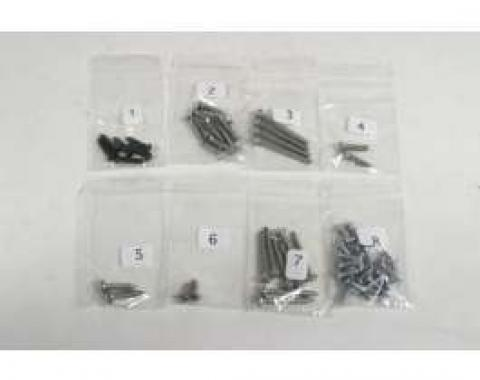 El Camino Exterior Screw Kits With Wheel Well, 66 Screws, 1973-1977