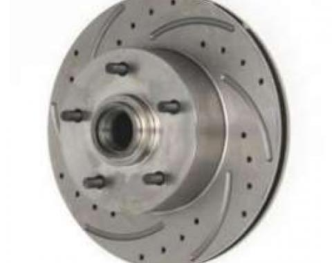 El Camino Front Disc Brake Rotor, Drilled, Slotted & Vented, Left, 1959-1972