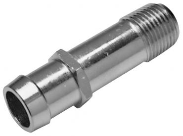 Proform Water Pump Pipe Fitting, Steel, Chrome, 1in. NPT Male to 3/4in. Hose Barb 66365