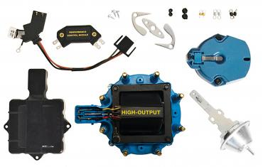 Proform Engine Distributor Tune-Up Kit, Fits GM HEI V8 Dist w/Internal Coil, Blue Cap 66945BC