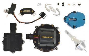 Proform Engine Distributor Tune-Up Kit, Fits GM HEI V8 Dist w/Internal Coil, Black Cap 66945BKC