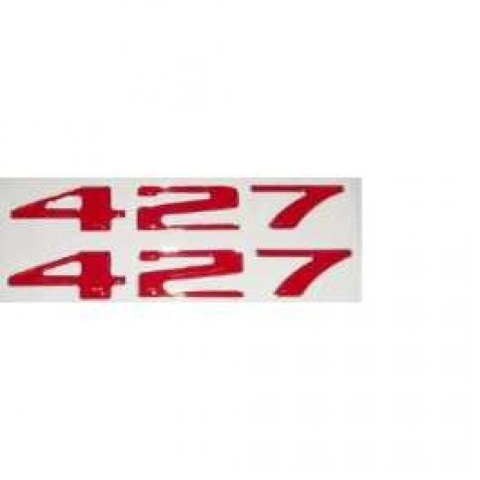 427 Red 3D Domed Adhesive Letters