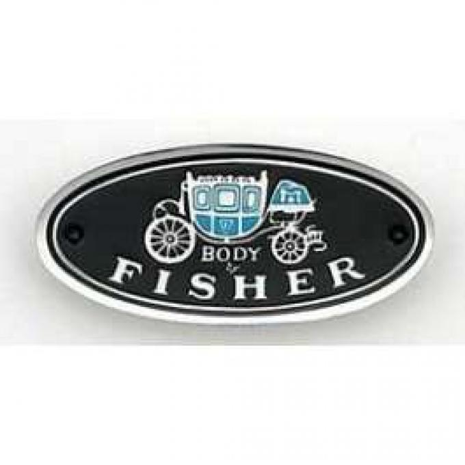 Camaro Sill Plate Emblem, Body By Fisher, 1970-1981