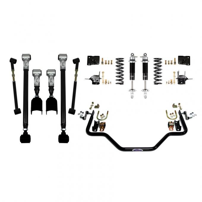 Detroit Speed Rear Speed Kit 3 67 A-Body Double Adjustable Shocks W/Remote Canister (Stock Axle) 041613-R