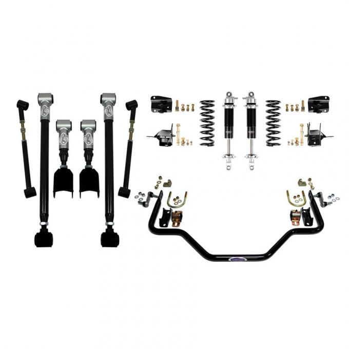 Detroit Speed Rear Speed Kit 3 68-72 A-Body Double Adjustable Shocks W/Remote Canister (Stock Axle) 041612-R