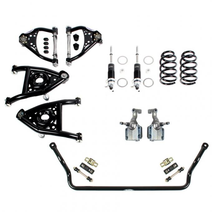 Detroit Speed Speed Kit 2 Front Suspension Kit Double Adjustable Shocks 1964-1966 A-Body SBC LS 031317-D