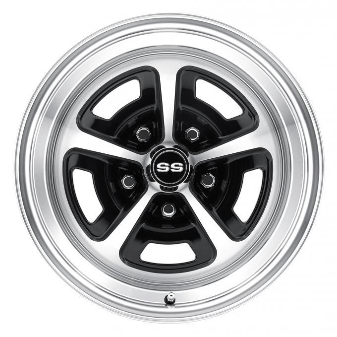 Legendary Wheels 15 x 8 Magnum Alloy Wheel, 5 on 4.75 BP, 4.75 BS, Gloss Black / Machined LW50-50857A