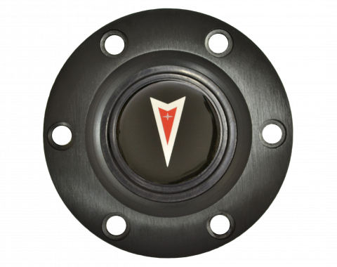 Volante S6 Series Horn Button Kit, Pontiac Red Arrow, Black