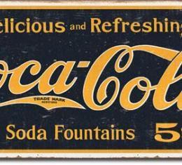 Tin Sign, COKE - 1910 Logo Weathered