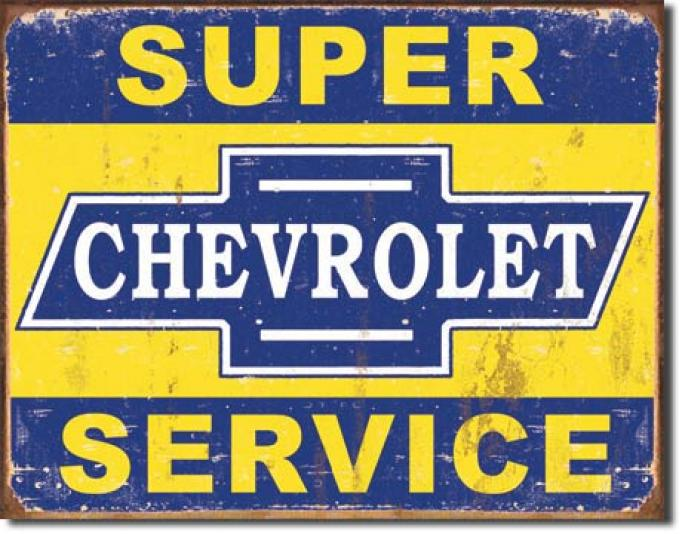 Tin Sign, Super Chevy Service