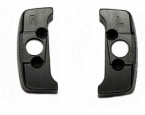 1974-92 Seat Belt Shoulder Belt Guide Escutcheons, Black Pair