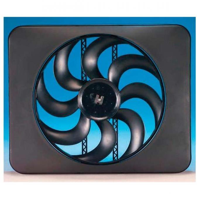 El Camino Engine Cooling Fan Kit, Electric, Universal, Single, 3300 CFM, Black Magic X-Treme, Flex-a-lite, 1959-1987