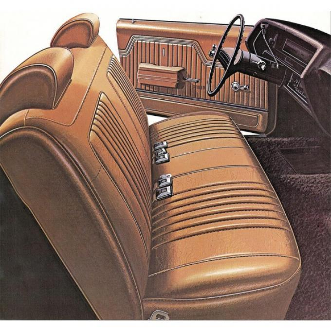Legendary El Camino Covers, Front Seats, Split Bench, Show Correct, 1972