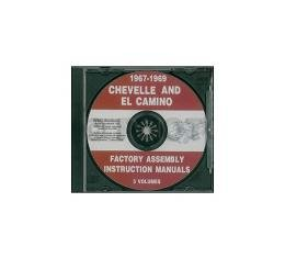 Chevelle Factory Assembly Manual, PDF CD-ROM, 1967-1969