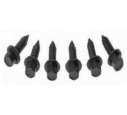 Chevelle And Malibu Heater And Air Conditioning Calble Screws, Set, 1964-1977