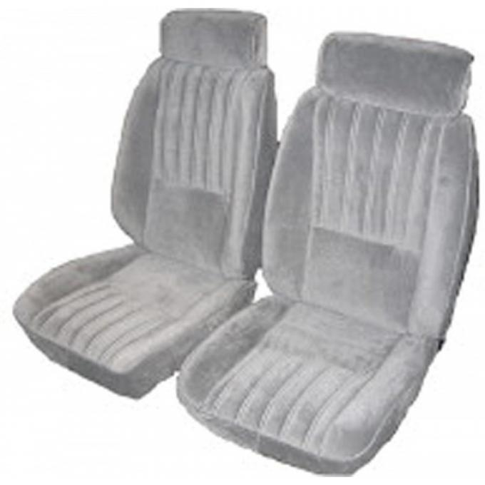 El Camino Seat Covers, Euro Reclining Buckets, Vinyl With Velour, 1982-1987